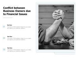 Conflict Between Business Owners Due To Financial Issues