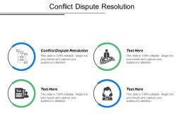 Conflict Dispute Resolution Ppt Powerpoint Presentation Model Show Cpb