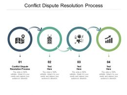 Conflict Dispute Resolution Process Ppt Powerpoint Presentation Icon Portrait Cpb