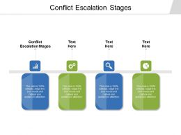 Conflict Escalation Stages Ppt Powerpoint Presentation Ideas Example Topics Cpb