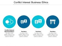 Conflict Interest Business Ethics Ppt Powerpoint Presentation Ideas Good Cpb