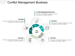 Conflict Management Business Ppt Powerpoint Presentation Icon Influencers Cpb