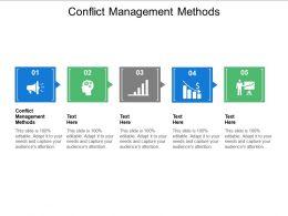 Conflict Management Methods Ppt Powerpoint Presentation Styles Design Ideas Cpb