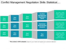 Conflict Management Negotiation Skills Statistical Methods Data Analysis Cpb