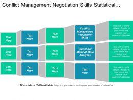 Conflict Management Negotiation Skills Statistical Methods Data Analysis Cpb