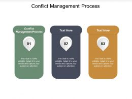 Conflict Management Process Ppt Powerpoint Presentation Pictures Examples Cpb