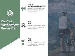 Conflict Management Resolution Ppt Powerpoint Presentation Infographic Template Background Cpb