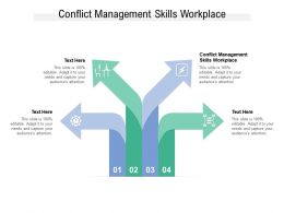 Conflict Management Skills Workplace Ppt Powerpoint Presentation Slides Themes Cpb