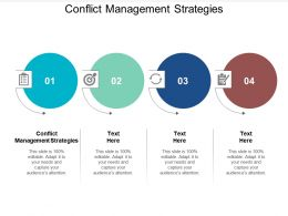 Conflict Management Strategies Ppt Powerpoint Presentation Professional Background Cpb