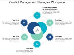 Conflict Management Strategies Workplace Ppt Powerpoint Presentation File Samples Cpb