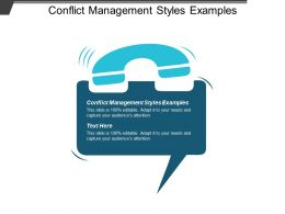 Conflict Management Styles Examples Ppt Powerpoint Presentation Layouts Deck Cpb