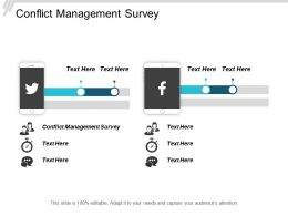 Conflict Management Survey Ppt Powerpoint Presentation Gallery Portfolio Cpb