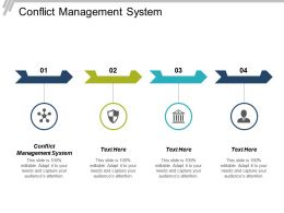 Conflict Management System Ppt Powerpoint Presentation Infographic Template Model Cpb