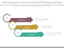 Conflict Management Techniques Template Ppt Background Designs