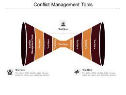 Conflict Management Tools Ppt Powerpoint Presentation Model Ideas Cpb