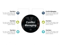Conflict Managing Ppt Powerpoint Presentation Infographic Template Model Cpb