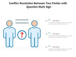 Conflict Resolution Between Two Parties With Question Mark Sign