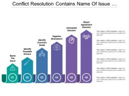 Conflict Resolution Contains Name Of Issue Possible Drivers And Reach Agreement Solution