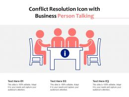 Conflict Resolution Icon With Business Person Talking