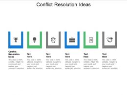 Conflict Resolution Ideas Ppt Powerpoint Presentation Infographics Microsoft Cpb
