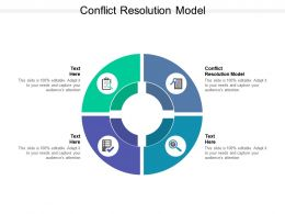 Conflict Resolution Model Ppt Powerpoint Presentation Styles Clipart Images Cpb