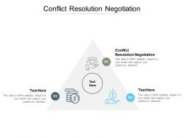 Conflict Resolution Negotiation Ppt Powerpoint Presentation Example Cpb