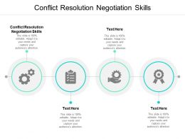 Conflict Resolution Negotiation Skills Ppt Powerpoint Presentation Layouts Cpb