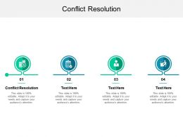 Conflict Resolution Ppt Powerpoint Presentation Ideas Rules Cpb