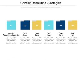Conflict Resolution Strategies Ppt Powerpoint Presentation Show Styles Cpb