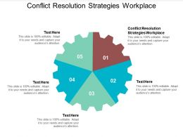 Conflict Resolution Strategies Workplace Ppt Powerpoint Presentation Infographic Template Cpb