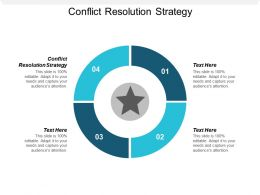 Conflict Resolution Strategy Ppt Powerpoint Presentation File Gallery Cpb