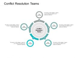 Conflict Resolution Teams Ppt Powerpoint Presentation Portfolio Good Cpb