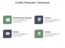 Conflict Resolution Techniques Ppt Powerpoint Presentation Pictures Layout Cpb