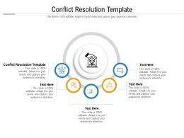 Conflict Resolution Template Ppt Powerpoint Presentation Gallery Rules Cpb