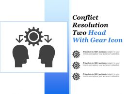 Conflict Resolution Two Head With Gear Icon