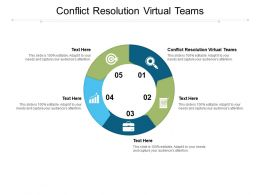 Conflict Resolution Virtual Teams Ppt Powerpoint Presentation Model Shapes Cpb