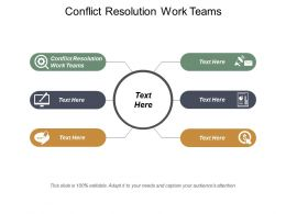 Conflict Resolution Work Teams Ppt Powerpoint Presentation Pictures Background Designs Cpb