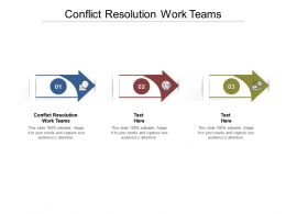 Conflict Resolution Work Teams Ppt Powerpoint Presentation Portfolio Sample Cpb