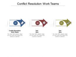 Conflict Resolution Work Teams Ppt Powerpoint Presentation Portfolio Sample Cpb