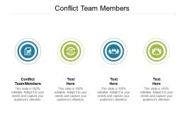 Conflict Team Members Ppt Powerpoint Presentation Designs Download Cpb