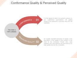 Conformance Quality And Perceived Quality Powerpoint Slide Backgrounds