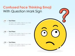 Confused Face Thinking Emoji With Question Mark Sign