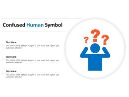 Confused Human Symbol