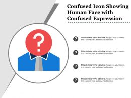 Confused Icon Showing Human Face With Confused Expression