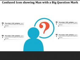 Confused Icon Showing Man With A Big Question Mark