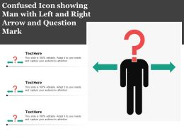 Confused Icon Showing Man With Left And Right Arrow And Question Mark