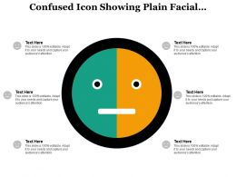 Confused Icon Showing Plain Facial Expressions