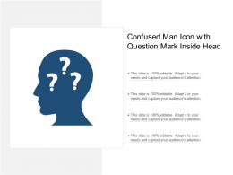 Confused Man Icon With Question Mark Inside Head