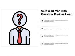 Confused Man With Question Mark As Head