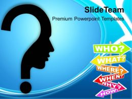 Confused Man With Questions Business Concept PowerPoint Templates PPT Themes And Graphics 0213